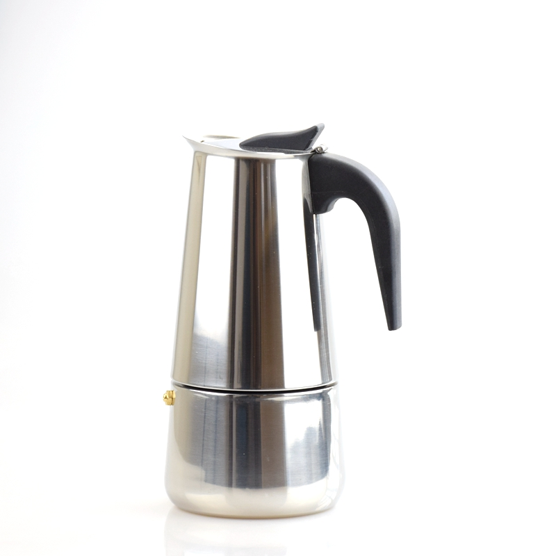 Espresso Coffee Pots cafeteiras inox 2/4/6/9 cups percolator stove top stainless steel Moka Coffee Maker in stock