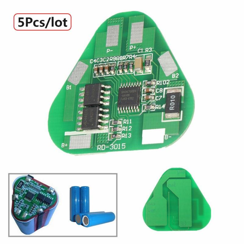 Подробнее о 5Pcs/lot 3S Li-ion Lithium Battery Protection Circuit Board 3 Cell PCB 10.8V 11.1V 12V 4A Free Shipping bat618 18v lithium ion battery pcb circuit board for bosch bat609 bat609g bat618 bat618g li ion battery