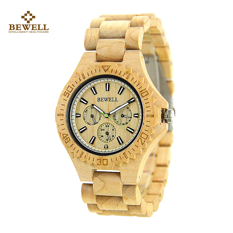 Wood Watch with Wooden Strap Natural Quartz Wooden Wristwatch for Your Friend Fashion Men Watches Zebra Band Christmas Gift 116B