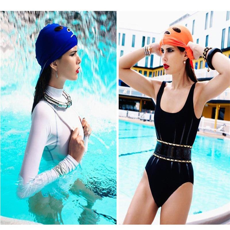 Waterproof Swimming Cap Unisex Adult Swim Caps Face Mask Guard Head Cap Sunblock Protect Uv Some Bug Biting Jellyfish for Head