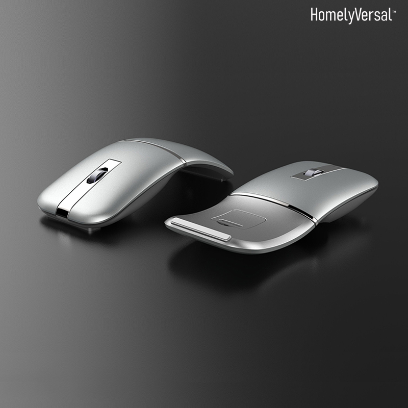 Cool Foldable Wireless Bluetooth Mouse Slim Silent Rechargeable Laptop Mice Office Mouse Creative Battery Game Mouse Bluetooth