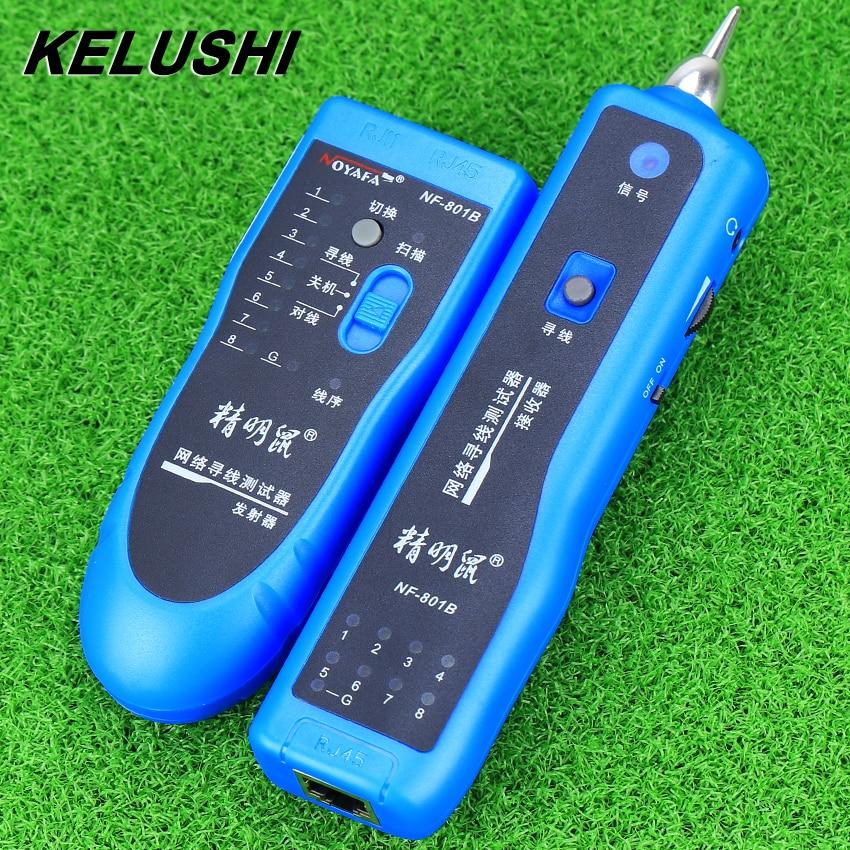 KELUSHI 2018 réseau RJ11 RJ45 lan fil tracker localisateur de défaut et testeur de câble LAN testeur de câble NF-801B