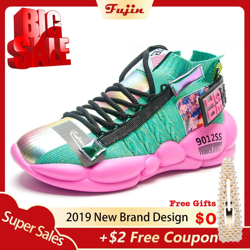 Fujin Platform Sneakers Vulcanized-Shoes Shoe-Chunky Spring Summer-Tape Autumn Women