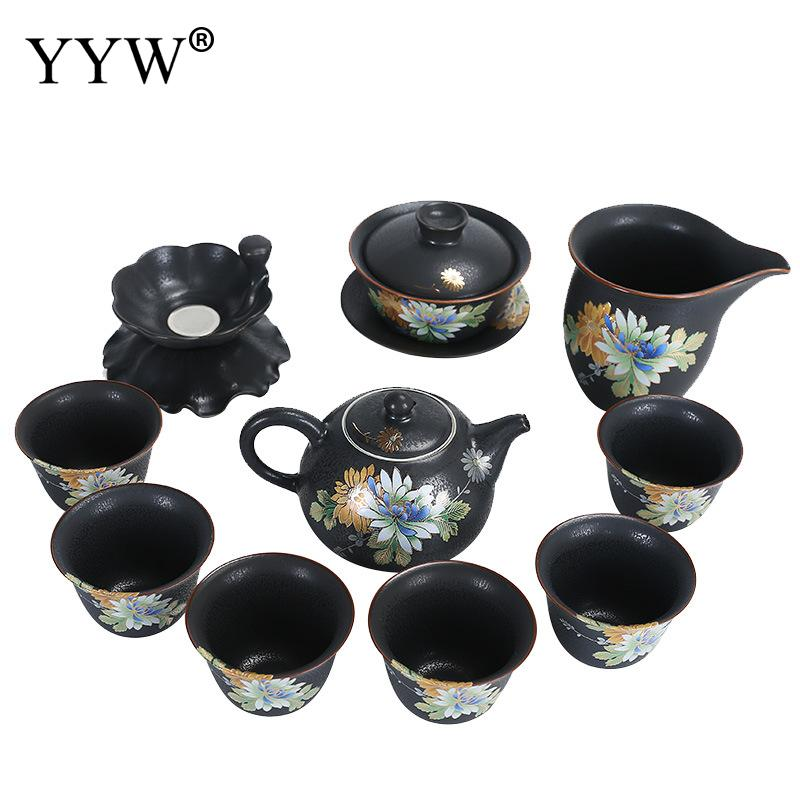 Pattern Tea Set Elegant Ceramic Tea Infuser Business Mug Gift Exquisite Tea Cup Handmade Clay Teapot Teaware Accessory SetsPattern Tea Set Elegant Ceramic Tea Infuser Business Mug Gift Exquisite Tea Cup Handmade Clay Teapot Teaware Accessory Sets