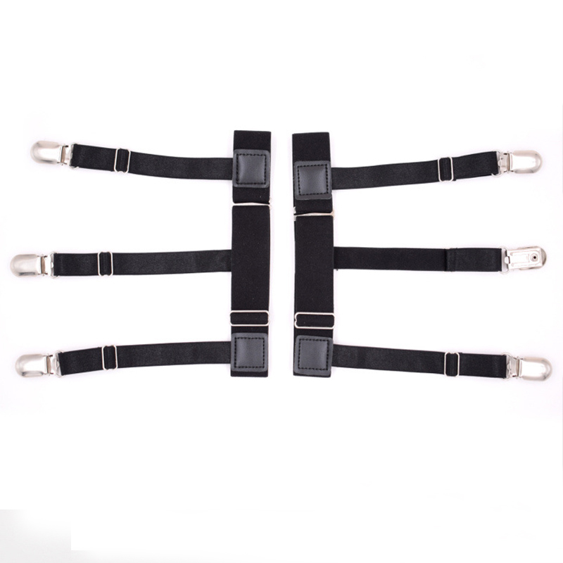 Mantieqingway Mens Solid Color Shirts Holders Suspensorio Elastic Business Garter Belt Braces For Men Shirts Suspenders Suits