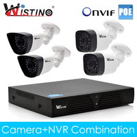 Wistino CCTV PoE IP Camera XMeye 8CH NVR Kits Set 720P 960P 1080P Outdoor Surveillance Video