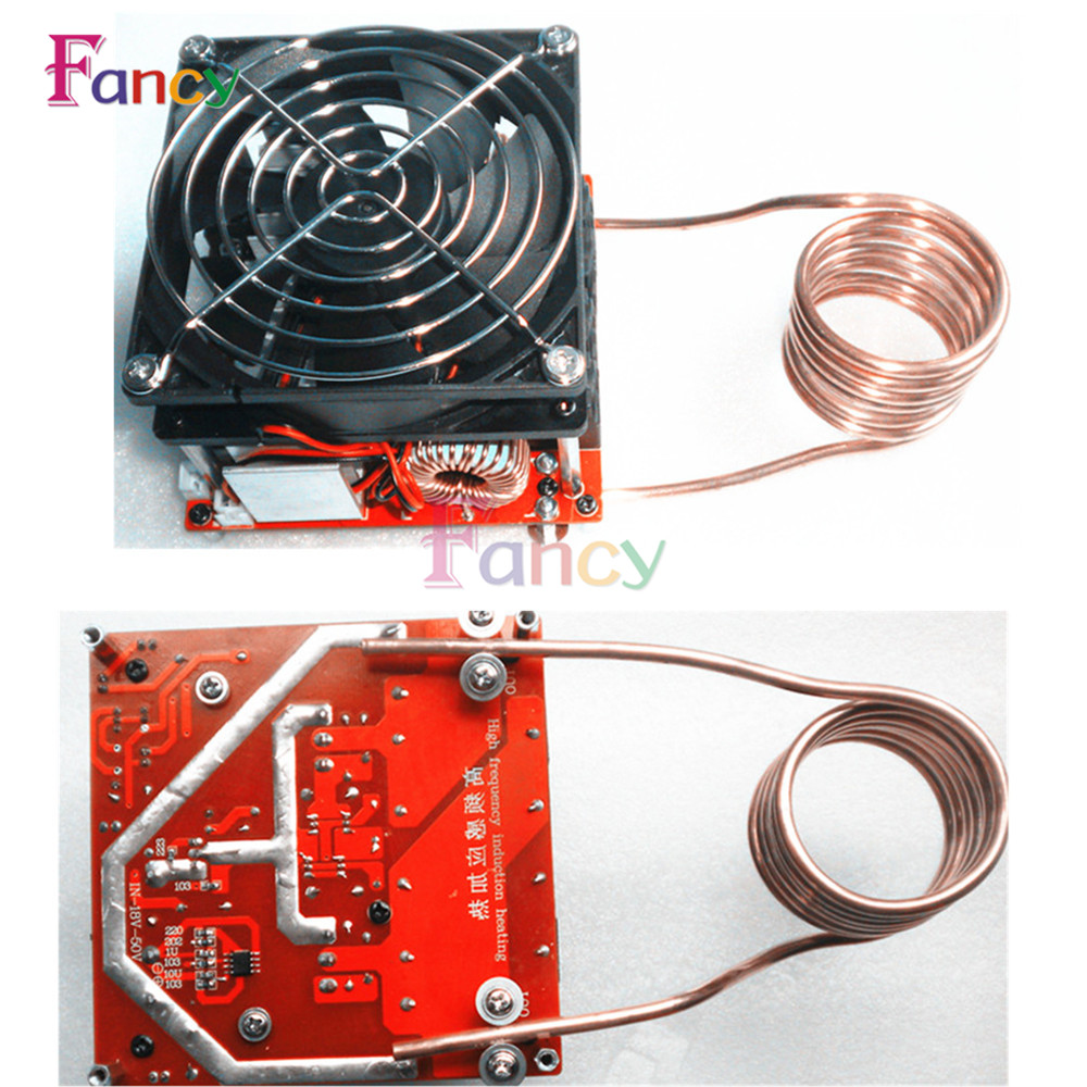 DC 24-36V 20A Diy ZVS induction heating board Flyback driver heater Cooker+ ignition coil hot runner coil heater temperature control box with coil heater guaranted 100%