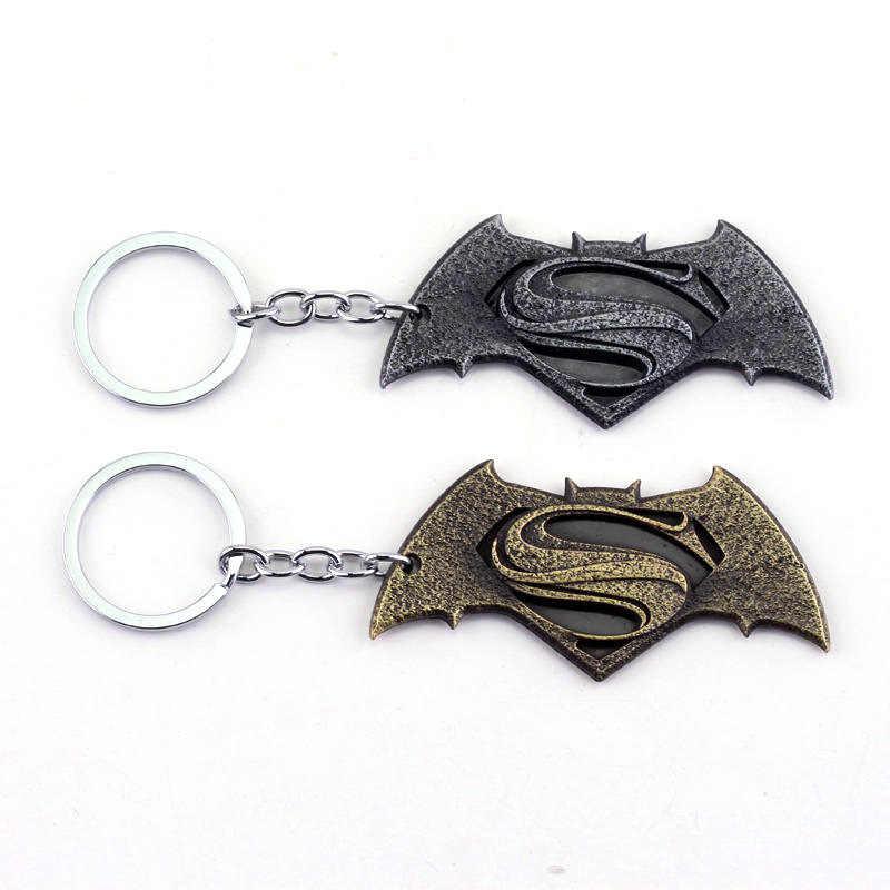 Dongsheng Filme de Super-heróis Superman Batman Keychain Madrugada de Justiça Logo Keychain Chaveiro Cadeia Para Homens Jóias Carro Gift-50