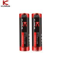 2pcs KLARUS 14500RU75 14500 Li Ion แบตเตอรี่ 750mAh 2.77W Micro USB ชาร์จสายชาร์จแบตเตอรี่