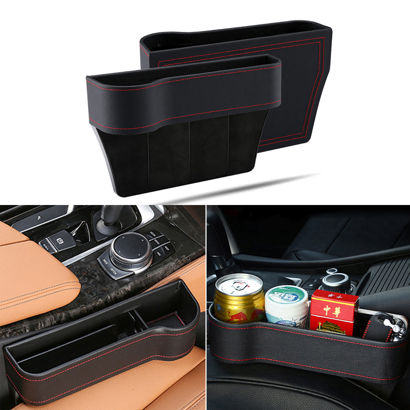 Storage Box Car Organizer Seat Gap PU Leather Case Pocket For KIA Rio Ceed Sportage Mazda