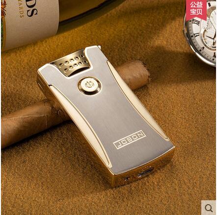 Jobon USB double arc charging lighter metal font b electronic b font font b cigarette b