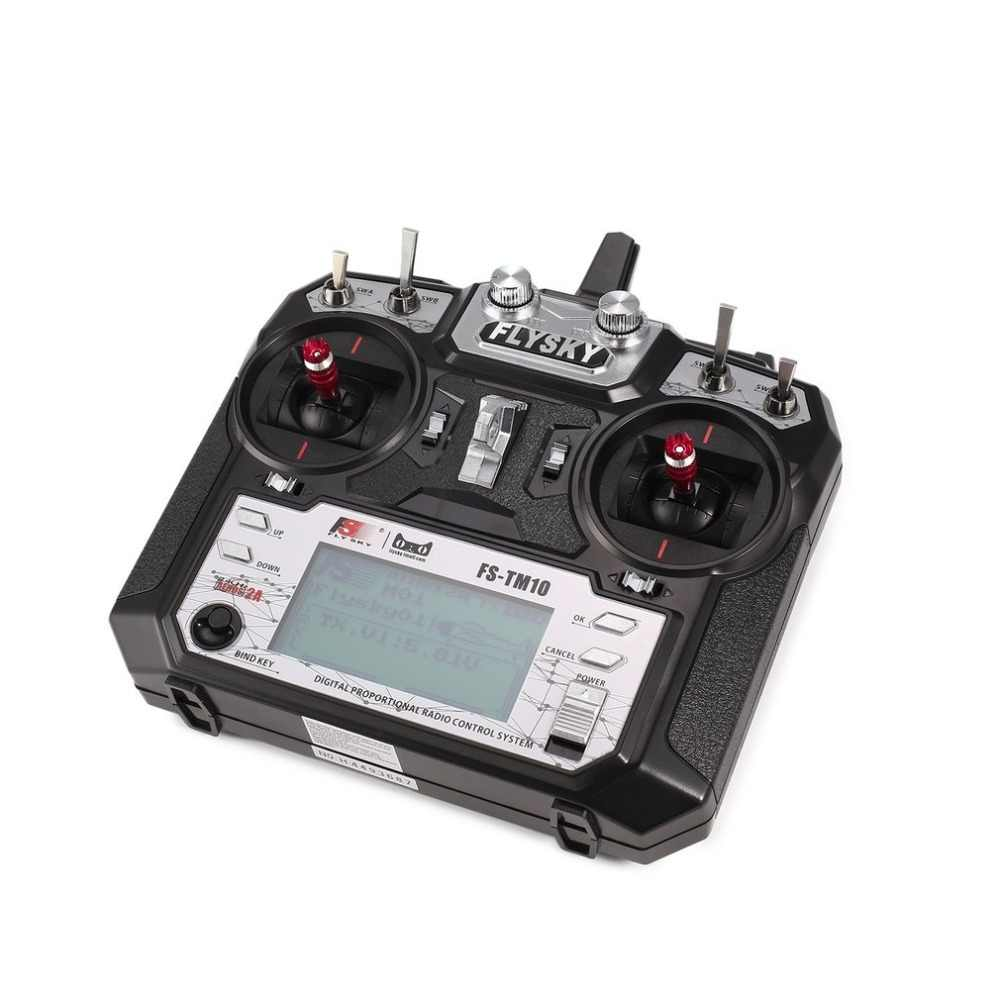 Original! Flysky FS-TM10 FS-i6X 10CH 2.4GHz AFHDS RC Transmitter Radio Model Remote Controller System with FS-IA10B Receiver