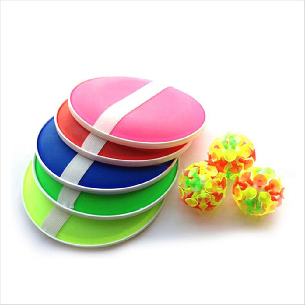 Funny Sticky Ball Game With 32 Suction Cup 2 Round Bats For Kids Outdoor Activity Game Children's Educational Toys