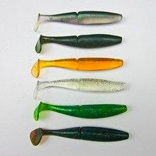 5 Pcs Japan New Fishing Soft Bait For Bass Plastic Lure Swimbait Soft Shad  T Shape 100mm/12g