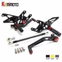 KEMiMOTO For Honda CBR1000RR CBR 1000RR 1000 RR CNC Adjustable Rear Set Rearsets Footrest 2008 2009 2010 2011 2012 2013 2014