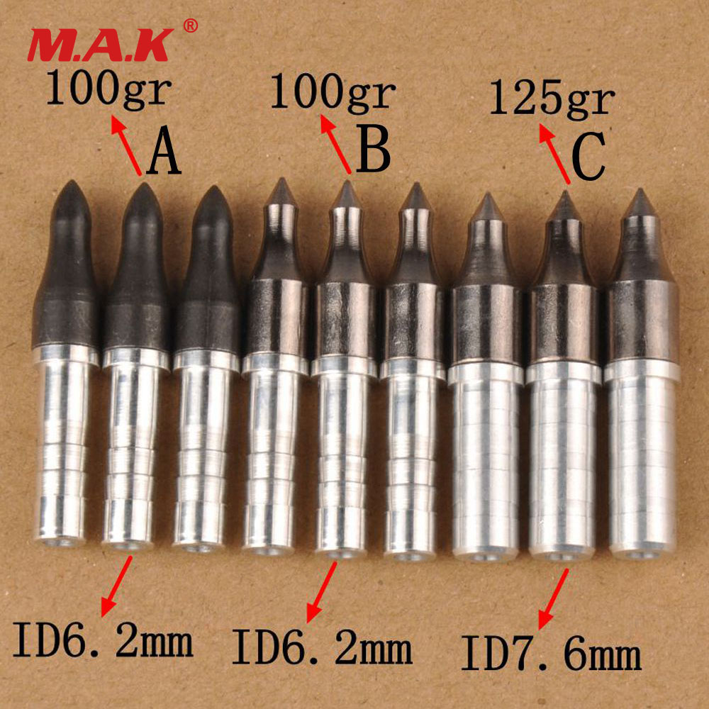 12pcs Hunting Broadheads 100//125gr Arrowhead Arrow Tip Head Outdoor Shooting
