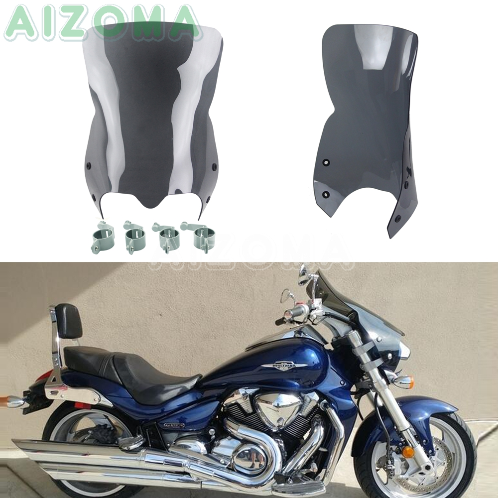 Black Moyorcycle Polycarbonate Windshield Windscreen For Suzuki M109R Boss M50 M90 M109R M109R2 M109RZ Limited Edition