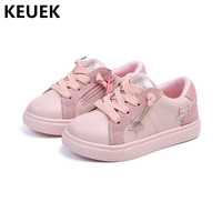 New Spring Children Shoes Kids Flats Genuine Leather Shoes Boys Girls Soft bottom Non slip Toddler Baby Sneakers Casual 041