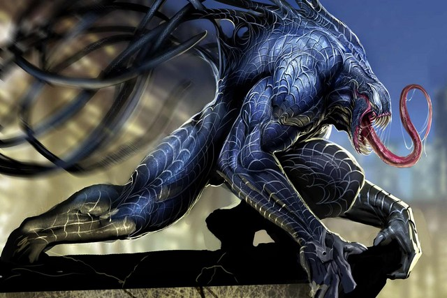 Siash el devorador Decoraci-n-del-hogar-VENOM-Marvel-Comics-seda-Telas-impresi-n-dm878.jpg_640x640