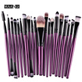 MAANGE 20Pcs purple Makeup Brushes Set Powder Blusher Foundation Eyebrow Eyeshadow Eyeliner contour Concealer Brush tools kit