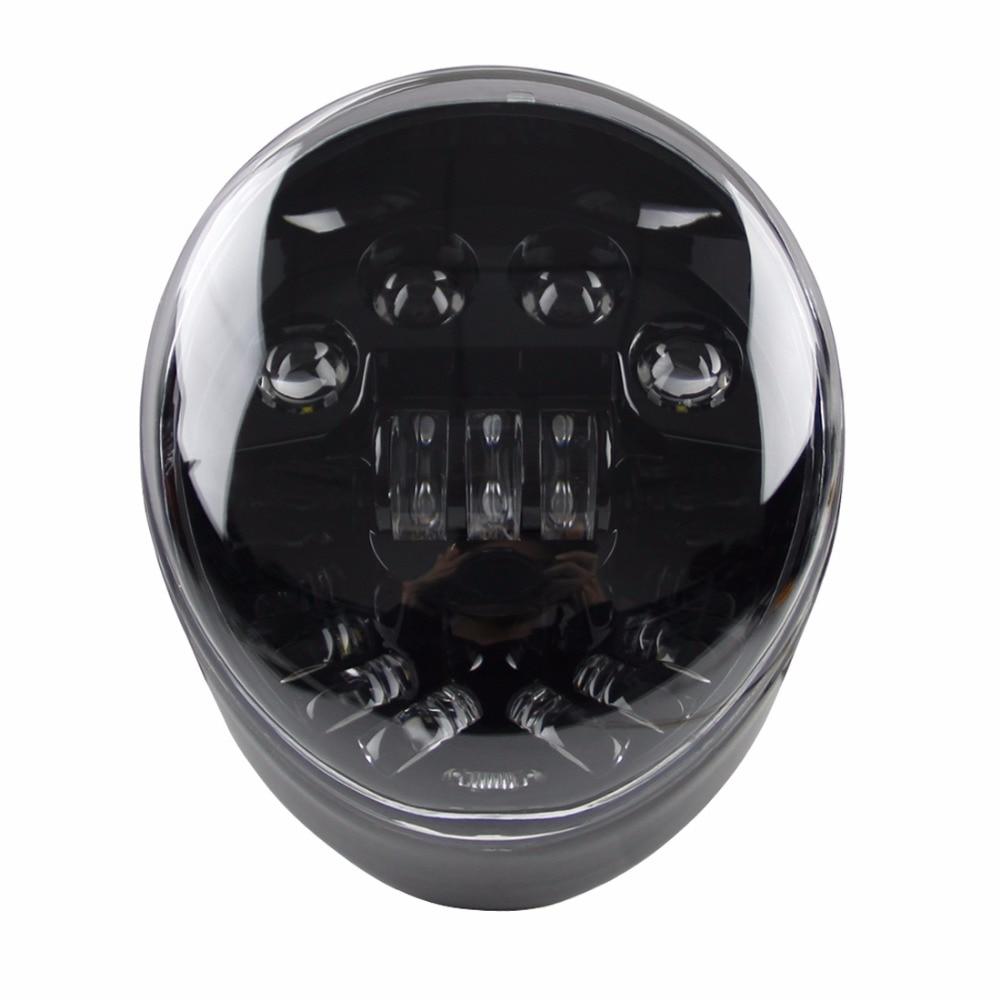 SKTYANT New V-rod Motorcycle Accessories LED Headlight Black for Harley Davidson VRSCA V-Rod VRod Led Headlight
