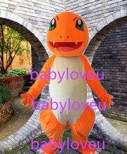 Новый высокое качество Pokemon Charmander дракон костюм талисмана костюм тема косплей комплекты Персонажа Из Мультфильма аниме карнавальный костюм