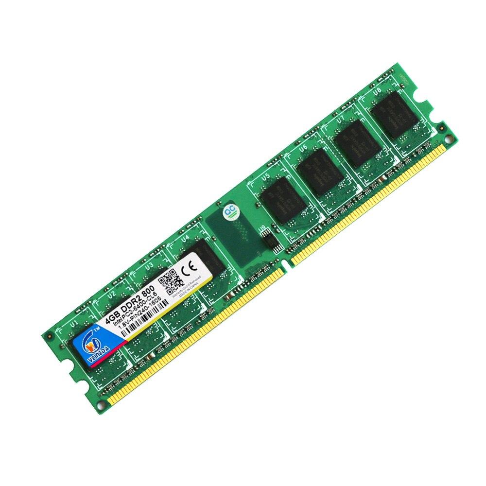 Veineda ddr2 8 gb 2x4 gb ddr2-800 pour intel et amd mobo support memoria 8 gb ram ddr2 6400 - 3