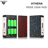2017 новые оригинальные Athena гордость 250 Вт комплект коробки mod испаритель электронная сигарета Fit 18650 батареи VAPE комплект электронные сигареты