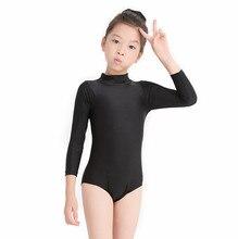 Speerise Lycra Spandex Long Sleeve Turtleneck Leotard Girls Gymnastics Dancewear Kids Toddler Baby Dance Leotards Costumes