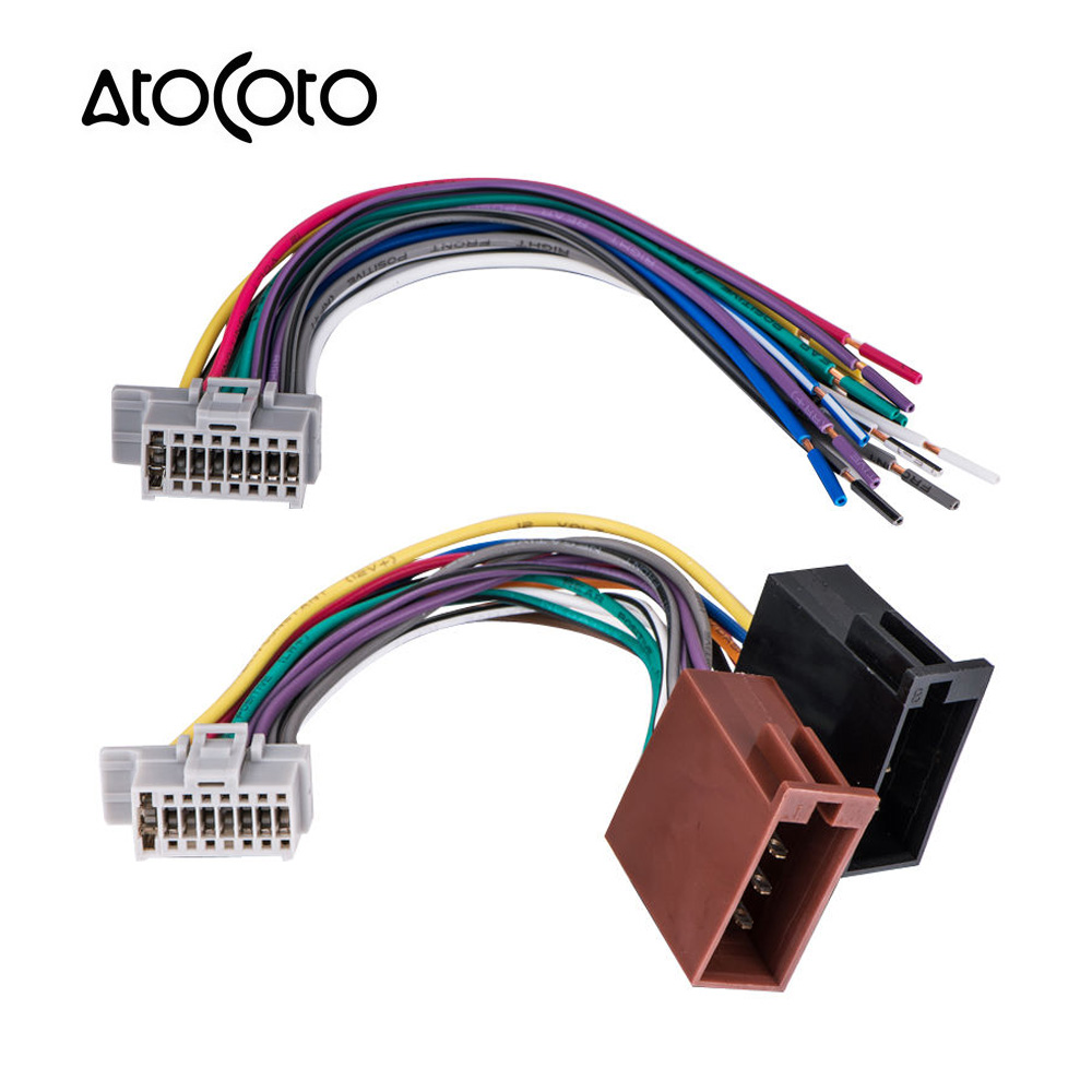 hight resolution of car stereo radio 16 pin iso standard wiring harness connector wire cable adapter for panasonic cq c1303u cq c1304u