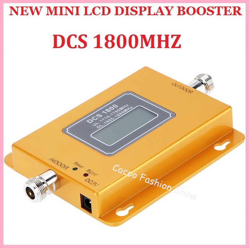 LCD display ! Newest DCS 1800mhz 4g booster gsm980 20db mobile phone repeater dcs amplifier booster, 4G cellular signal Repeater