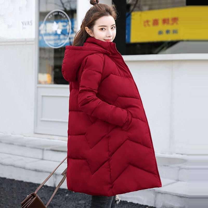Plus Größe 4XL 5XL 6XL frauen Winter Jacken Mit Kapuze Verdicken Baumwolle Gepolsterte Weiblichen Mantel Winter Frauen Lange Parka Warme Unten jacke