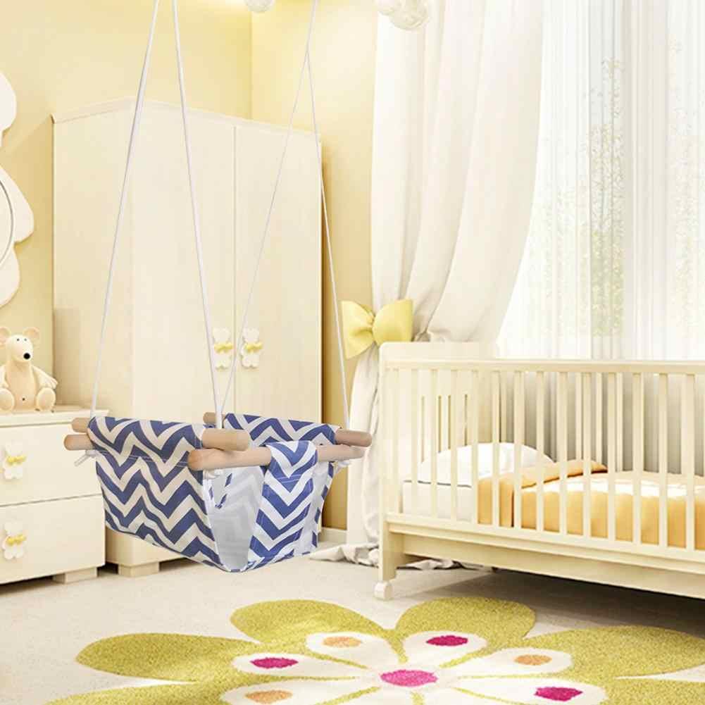 Brinquedo Crianças Jardim Quarto Dormitório Rede Interior Cadeira de Suspensão ao ar livre Pequena Cadeira De Balanço Balançando Cesta Com Almofada