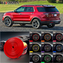 8M Car Wheel Hub Rim Edge Protector Ring Tire Strip Guard Rubber Decals For Ford explorer