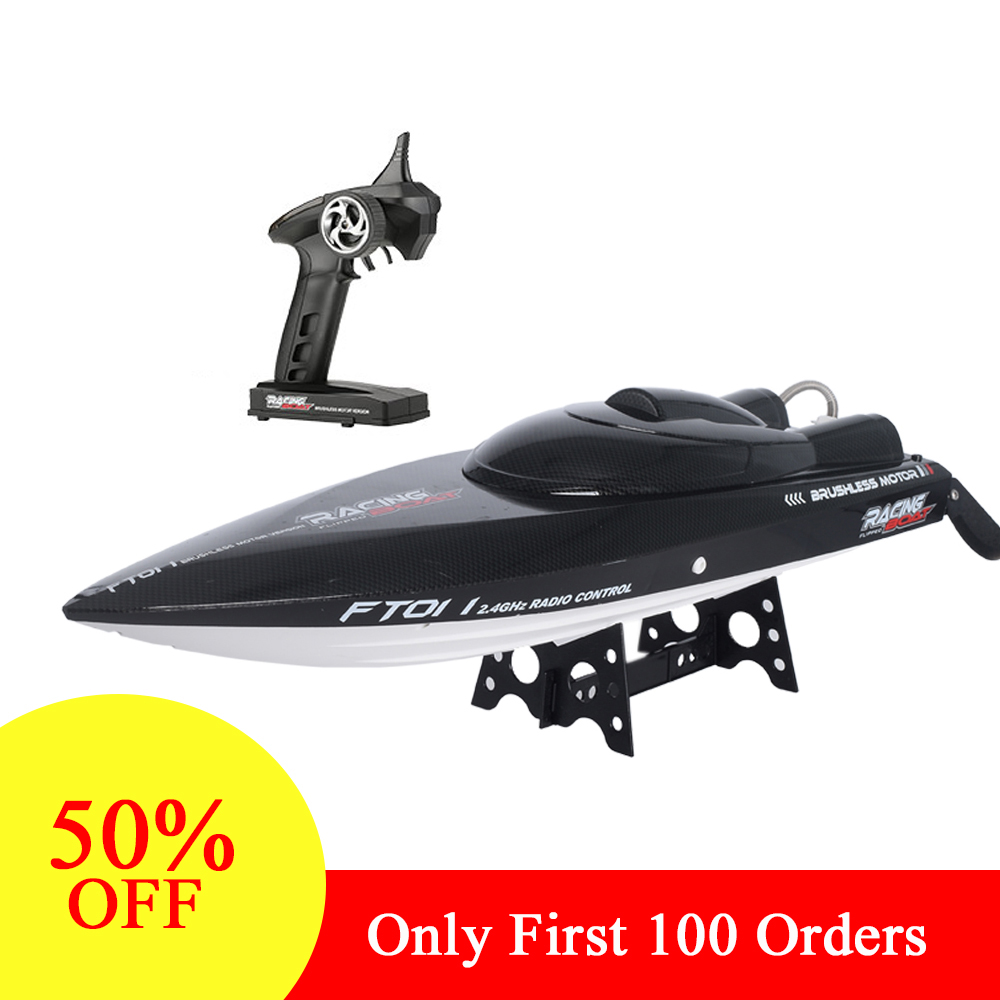 Feilun FT011 2.4G High Speed RC racing Boat 55km/h 150m Control Distance RC toys Fast Ship With Water Cooling System цена