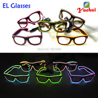 For Birthday Party Decoration EL Wire Glowing Glasses Party luminous Glasses with Sound active Driver 10pieces