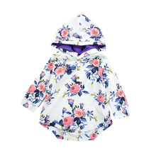 VTOM Hot Sale New Autumn Baby Ronpers Infant Long-sleeved Hooded  Jumpsuits Cotton Clothes Rompers For Newborn Girls