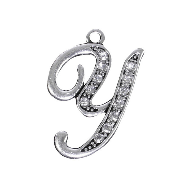 Diy jewelry making accessories fashion antique silver plated zinc diy jewelry making accessories fashion antique silver plated zinc alloy metal a z 26 english letters y audiocablefo