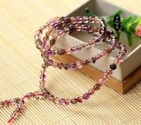 Natural crystal bracelet strawberry bracelet tricycle colorful crystal bracelet super natural