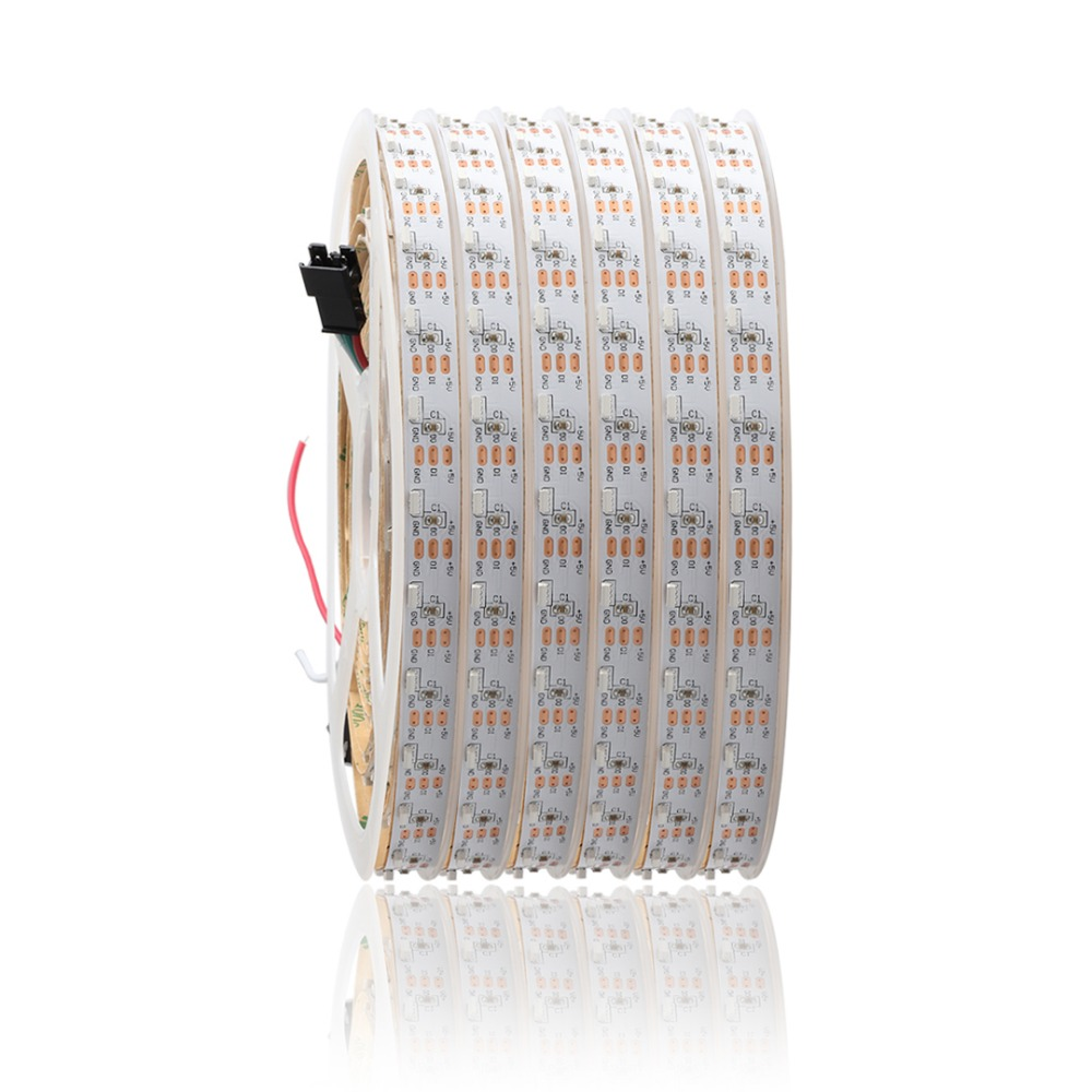 DC5V 335 Side Emitting LED Strip Addressable SK6812 60Led/m WS2812B IC White Ultra Thin PCB Non-waterproof 1m 2m 3m 4m 5m JQ