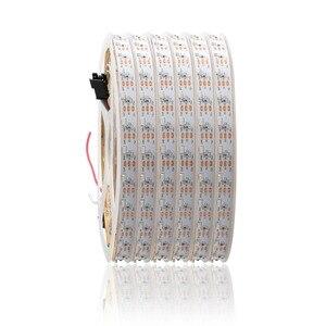 DC5V 335 taśma LED emitująca boczne adresowalne SK6812 60 led/m WS2812B IC biała Ultra cienka płytka drukowana wodoodporna 1m 2m 3m 4m 5m JQ