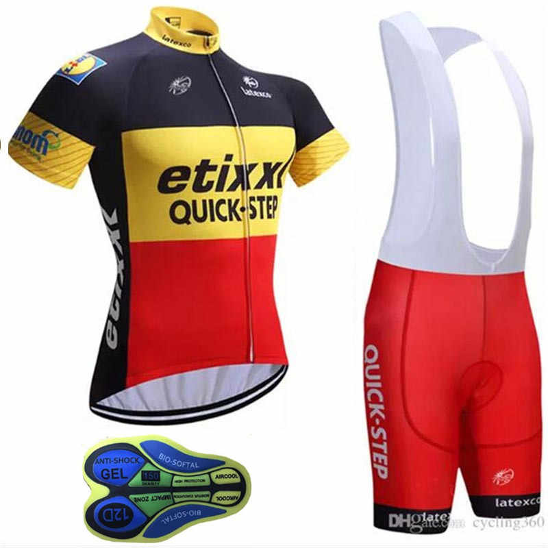 Quick step 2018 Pro Team Cycling Jersey New Men Bicycle Clothing uniformer Shorts  Set Ropa Ciclismo c162572f1