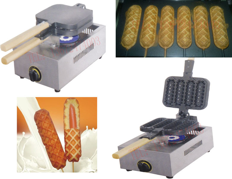Hot  sale Gas type waffle iron/ lolly waffle machine hot sale cayler