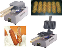 Free Shipping Hot Sale Gas Type Waffle Iron Lolly Waffle Machine Fast Shipping By Fedex