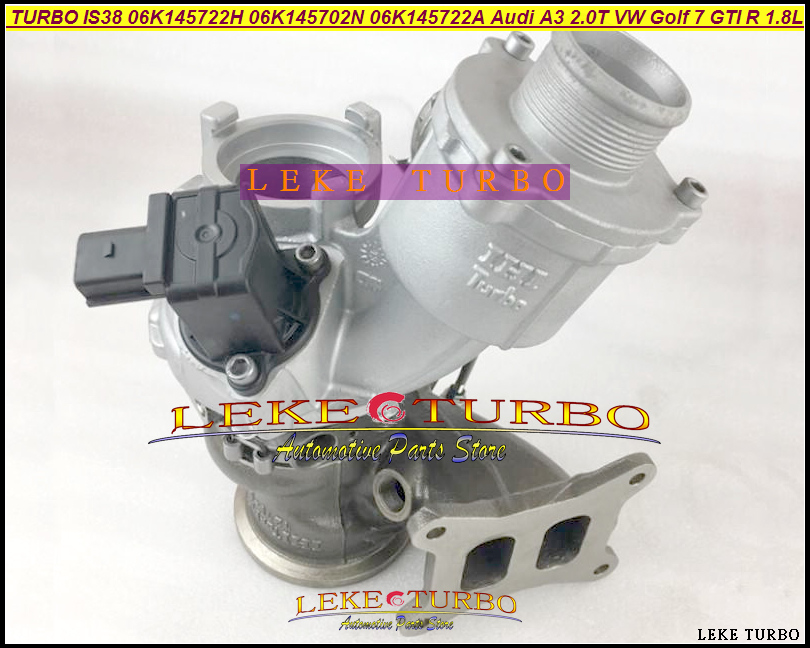 Turbo IS38 06K145722H 06K145722A 06K145702N 06K 145 702N 06K 145 722A 06K 145 722H For Audi A3 2.0T VW Golf 7 GTI R 1.8T 1.8L epman for vw audi tt s golf r turbo piping kits air charge pipe hi flo air charge pipe ep tpbtk006p