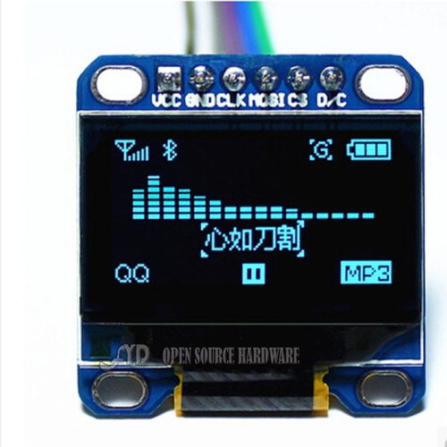 0.96 Inch Blue I2C IIC OLED LCD Module Serial 128X64 LED Display Modules  51 MSP420 STIM32 SCR
