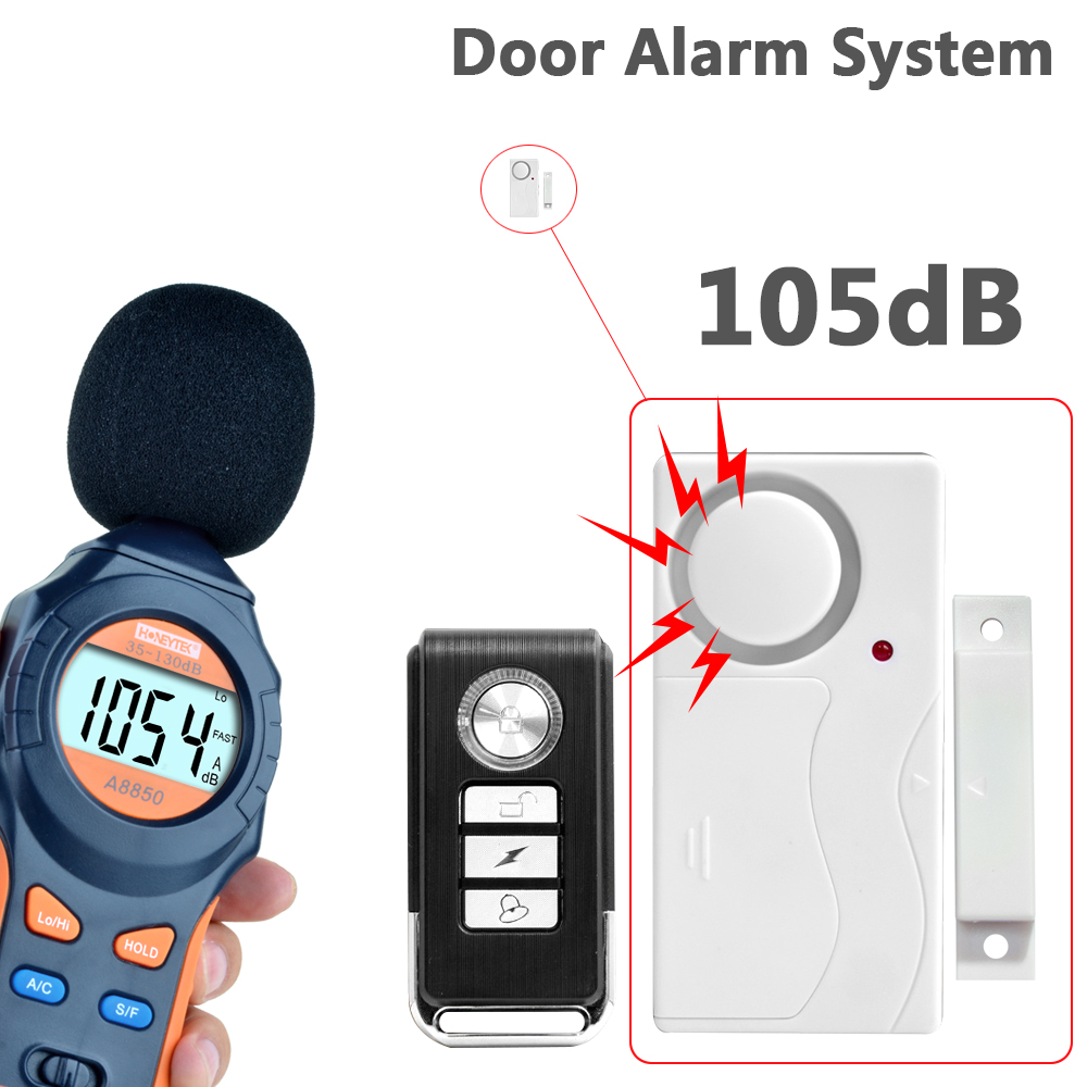 White Color ABS Remote Control Door Sensor Alarm Host Burglar Security Alarm System digital door window security alarm forecum 433mhz wireless magnetic door window sensor alarm detector for rolling door and roller shutter home burglar alarm system