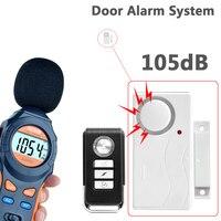Beyaz Renk ABS uzaktan kumandalı kapı Sensörü Alarm hırsız güvenlik alarmı Sistemi dijital kapı pencere güvenlik alarmı|alarm host|alarm systemalarm digital -