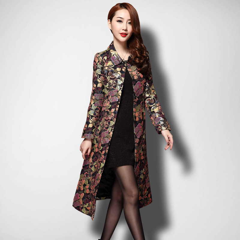 Trench coat for women Chinese style long coats woman winter 2018 autumn trending styles female ladies warm trenchcoat KK2550