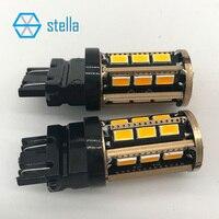2 stücke T25/3157 P27/5 Watt auto Led-lampe Gelb/Rot/Weiß für LED Brems lichter/Indikatoren/bremsleuchte... super lebenslange garantie